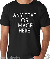 MENS CUSTOM PERSONALISED DESIGN YOUR OWN T SHIRTS GROUP PARTY STAG HOLIDAY