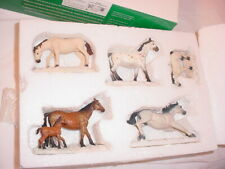 Dept 56 Thoroughbred Horses 52747 Winter Snow Village Scene