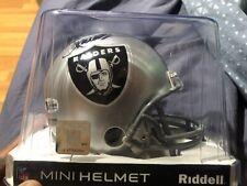 HOF OAK RAIDERS Marcus Allen Autographed Mini Helmet Riddell Becket COA