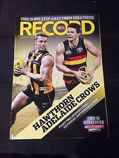 AFL Record 2012 Hawks Vs Crows First Preliminary Final
