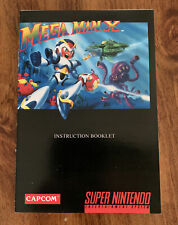 MEGA MAN X Custom Replacement Game Instruction Manual Only For Super SNES