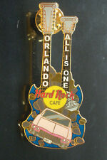 HRC hard rock cafe orlando Double Neck Pink Cadillac Guitar