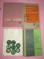 Vintage 1950s-70s Girl Scout Patches, Badges, Books, Brownie, Cadettes Lot