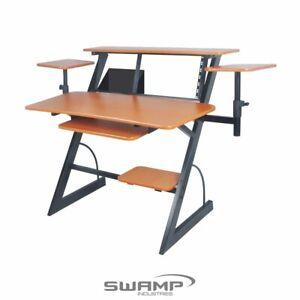 """SWAMP WS-16PLUS Studio Workstation Desk - Adjustable Monitor Shelves - 19"""" Rack"""