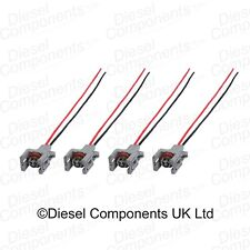 4 x Diesel Injector Connector Plug 2 Way Pre-Wired for Ford Delphi Injectors