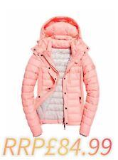 Medium 12 Womens Superdry Fuji Slim Double Zip Papaya Coral Jacket