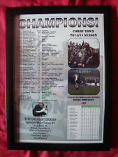 Corby Town Evo-Stik Southern League Premier champions 2015 - framed print