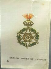 RARE Antique Cigarette Silk Premiums GUELFIC ORDER OF HANOVER Tobacciana c1900