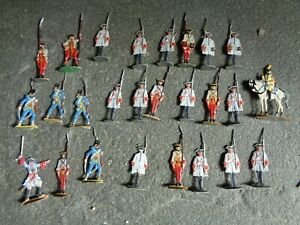 flats, French Fusiliers 7 years War in Canada, well painted lead Zinnfiguren JL