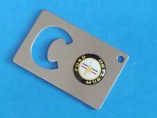 MUSTANG LOGO CREDIT CARD BOTTLE OPENER #022 WHITE