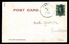 "1907 ""Stolen Kiss"" Postal Card - Canton, Me - U.S. #300 Franking (Esp#3346)"