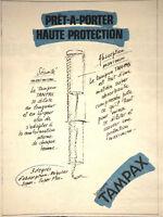 PUBLICITÉ DE PRESSE 1980 TAMPAX LE PRÊT-A-PORTER HAUTE PROTECTION