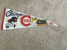 Vintage early 1960s Chicago Cubs felt pennant