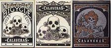 1 Set Calaveras Playing cards Branded+ unbranded+midnight (3 DECKS )