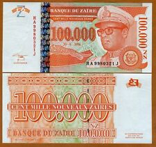 Zaire, 100,000 (100000) Nouveaux Zaires, 1996, P-76, UNC