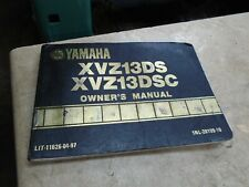 Yamaha 1300 Venture Royale XVZ1300 Owner Manual 1986 YB