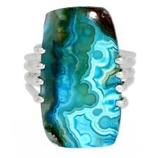 Mexican Laguna Lace 925 Sterling Silver Jewelry Ring s.6 AR171669