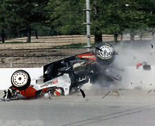 RICK MEARS 1992 INDIANAPOLIS INDY 500 PRACTICE CRASH FLIP 8x10 PHOTO