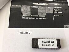 WILLIAMS VIDEO - MODEL 550 - MULTI-DENOMINATION - CLEAR/SET CHIP - MANUAL on cd