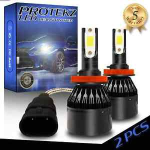 LED Headlight Protekz Kit H7 6000K CREE High Beam for Ford Fusion 2006-2017