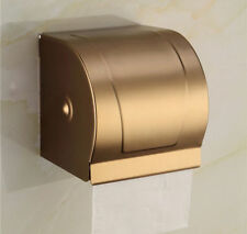 Gold Antique Aluminum Toilet Paper Holder Roll Tissue Case With Cover Dispenser