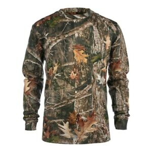 New True Timber 180 Gsm 60/40 Cotton/Poly Long Sleeve Htc Fall Tee