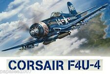 "Model Airplane Plans (UC): CORSAIR F4U-4 1/16 Scale 31"" for .29-.35 Engine"