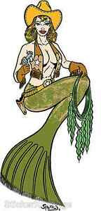 Western Mermaid Sticker Decal Poster Artist Chuck Sperry Firehouse FH13