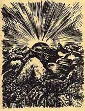 Das GEBIRGE - Frans MASEREEL  La MONTAGNE - 1947