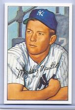 MICKEY MANTLE 1952 BOWMAN BASEBALL CARD REPRINT #101! NY YANKEES LEGEND!