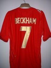Inglaterra Beckham Fútbol Camisa Jersey Uniforme Oficial Umbro 2006-08 Med