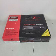 Zenith DTT900 Digital TV Tuner Converter Box w/ Cables & Remote. New
