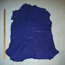 Big Soft Cobalt Blue Sheepskin Leather Hide Native Crafts Moccasins
