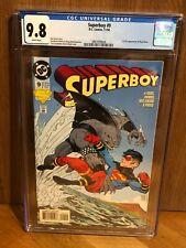 Superboy #9 CGC 9.8 White Pages - 1st King Shark Suicide Squad Movie Nov 1994 DC