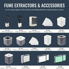 80with130with330w Fume Extractors For Co2 Fiber Laser Engravers Ampc W Filter Sets