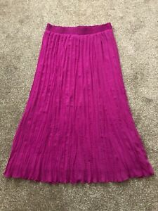 New Women's Pleated Long Maxi Skirt Elastic Waist Evening / Cocktail Party