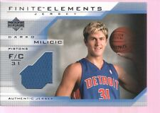 DARKO MILICIC 2003-04 UD FINITE ROOKIE RC GAME USED WORN JERSEY MINT PISTONS $12