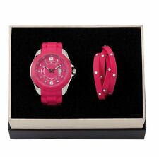 DSE 5122586 Raisin Watch with Bracelet Silicone Set Swarovski Crystal Authentic