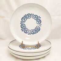 "**Set of 4 Denby Ram's Head ENGLISH BLUE 10"" Dinner Plates**"