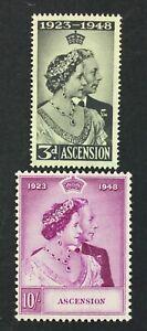 MOMEN: ASCENSION ISLAND SG #50-51 1948 MINT OG NH £50+ LOT #6692