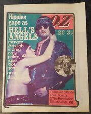 OZ MAGAZINE 20 HELLS ANGELS EX + 1969