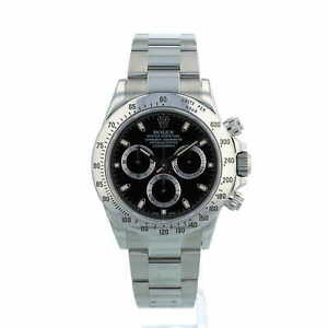 Rolex Daytona 116520 Black Dial Stainless Steel Box and Papers Year 2014