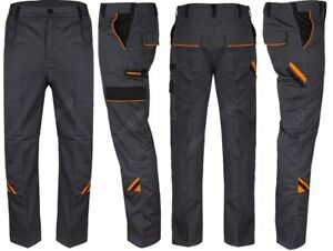 Professional Strong Heavy Duty Cargo Work Trousers Graphite Grey Black