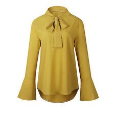 Camisas y tops de mujer de manga larga blusa de seda