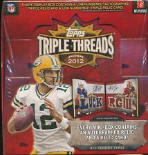 2012 TOPPS TRIPLE THREADS SEALED FOOTBALL HOBBY BOX