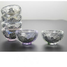 6pcs/lot China tea cup colorful glass cup 30ml small tea cups Chinese cup of tea