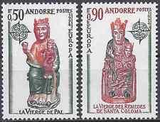 ANDORRE FRANÇAIS N°237/238 EUROPA SCULPTURES NEUF ** LUXE MNH COTE 55€