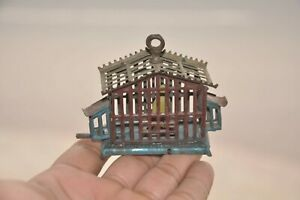 Vintage Unique Penny/Small Bird In Cage Litho Tin Toy,Germany