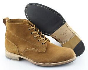 Men's RAG & BONE 'Spencer' Brown Suede Plain Toe Boots Size US 8.5 EUR 41.5