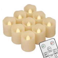 9x LED Teelichter Kerzen mit Fernbedienung Batterien Flackernd Teelicht Timer